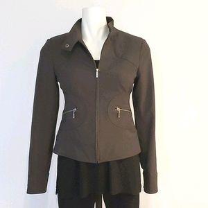 Sandra Angelozzi Khaki Short Blazer